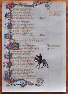 Ellesmere Chaucer Reproduction: finished recto