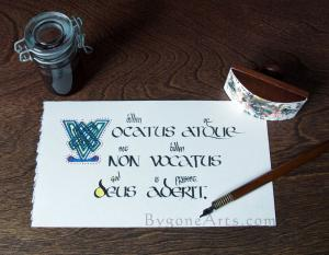 Vocatus: God is Present, Celtic Calligraphy